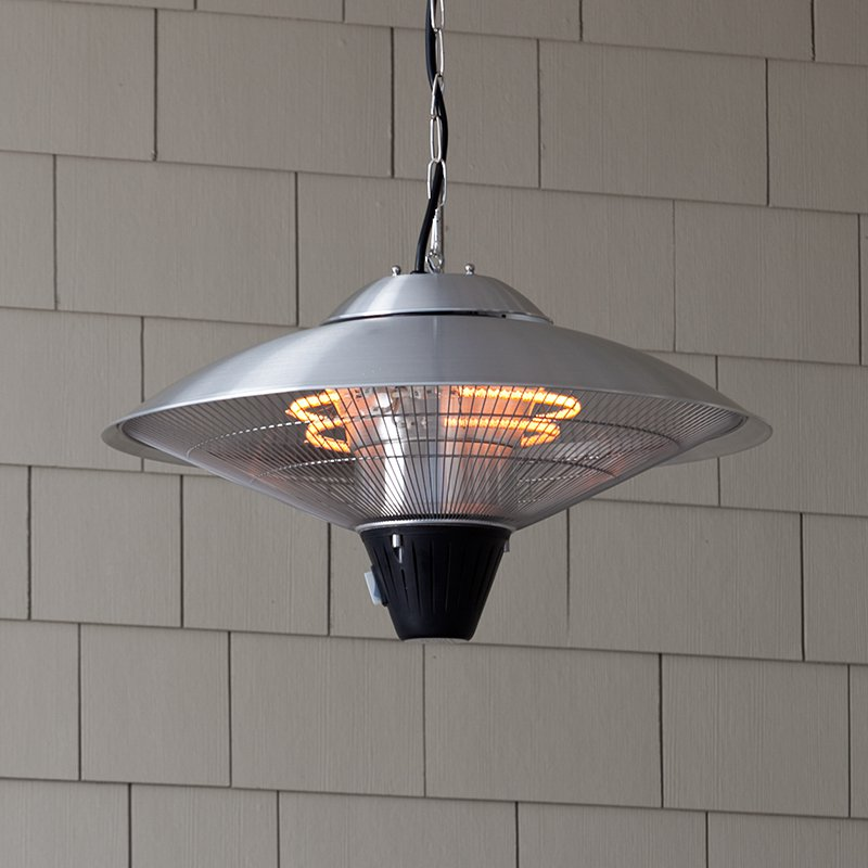 Fire Sense Hanging Stainless Steel Halogen Patio Heater