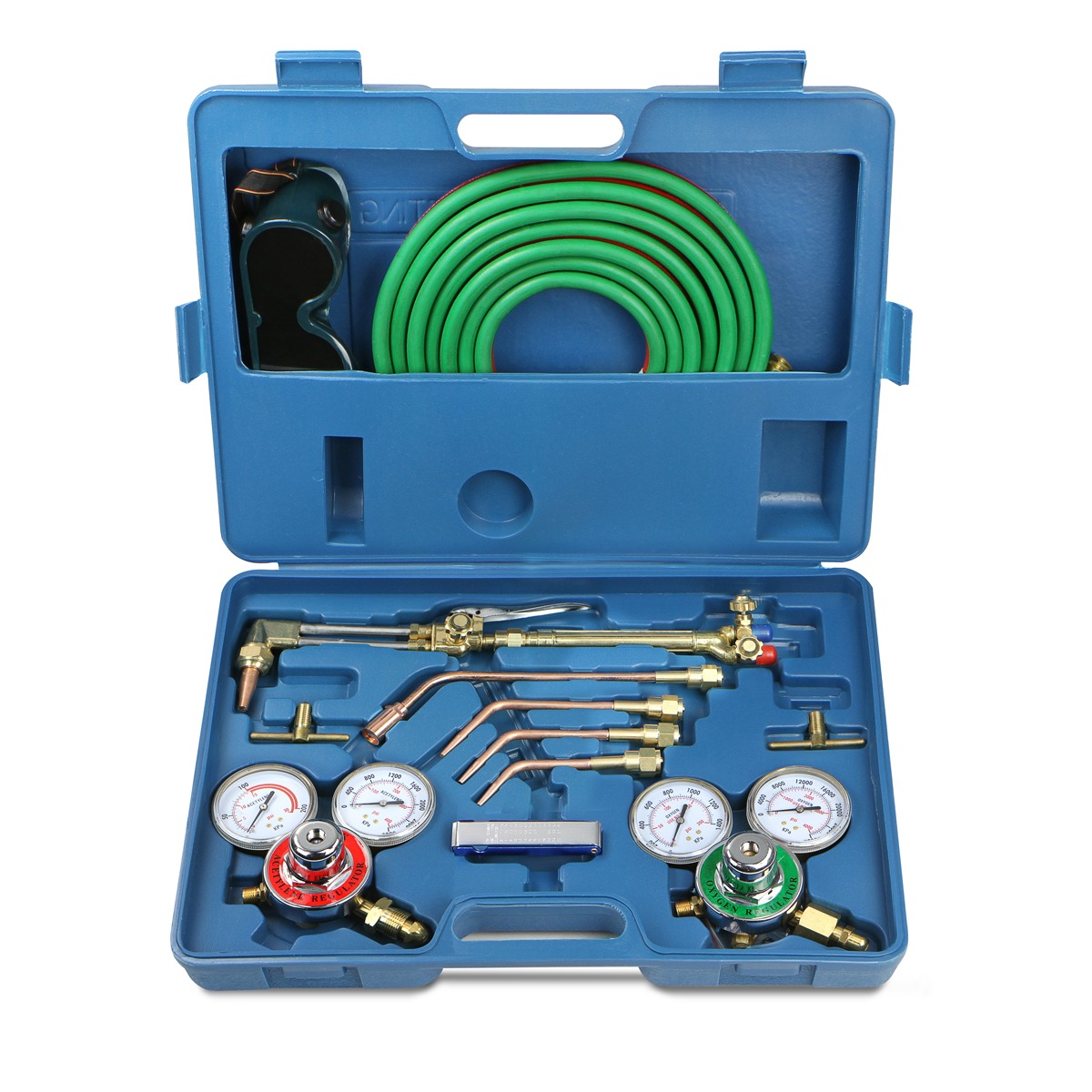 Oxygen Acetylene Welding Cutting Torch Tool Kit with Regularors & Twin Hose
