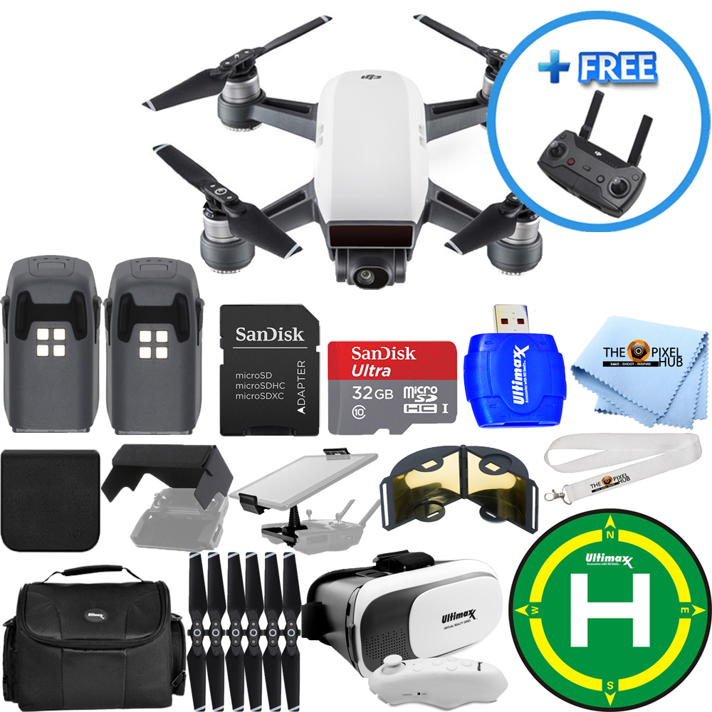 DJI Spark Quadcopter 2 BATTERY (TOTAL) EXTREME ALL YOU NEED PRO BUNDLE