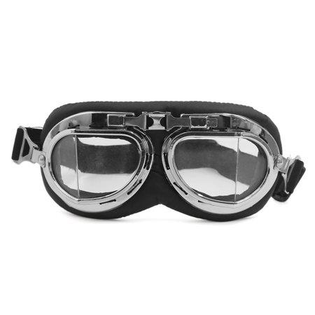 Unique Bargains Foldable Motorcycle Bike Dustproof Glasses Scooter Cruiser Helmet Pilot Goggles (Rebel Pilot Helmet)