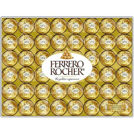 - Ferrero Rocher Hazelnut Chocolates 48 Count 21.2 oz. (600 g)
