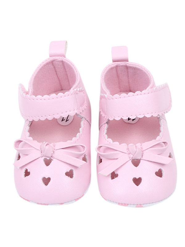 Lavaport 0-18M Lovely Baby Girl Bowknot Princess Shoes Prewalkers