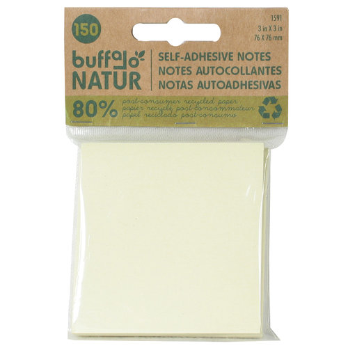 Buffalo Original Inc 1591 3in X 3in Self Adhesive Notes 150 Sheets