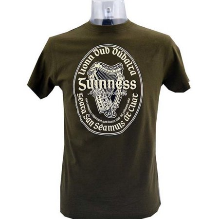 - Guinness Gaelic Label Brown Tee