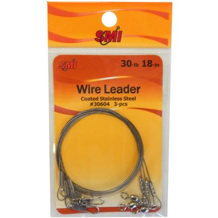 "Beau Mac Wire Leader, 30 lb, 18"", 3-Pack"