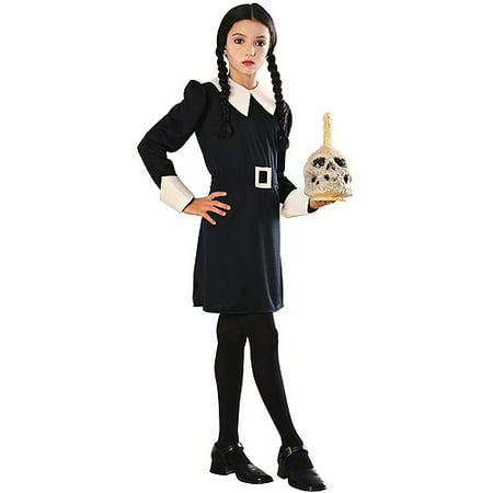Girl's Wednesday Addams Costume](Family Group Costume Ideas)