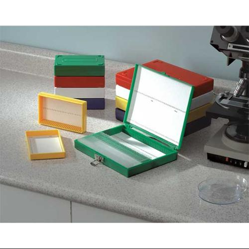 HEATHROW SCIENTIFIC HEA15994R MICROSCOPE SLIDE BOX 100 SLOTTED WH HE