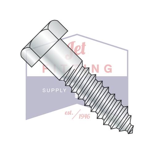 "3/8"" x 1"" Hex Lag Screws | Gimlet Point | Low Carbon Steel | Zinc Plated  (Quantity: 500)"