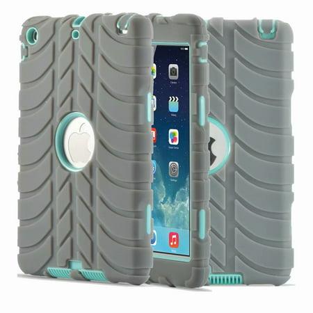 Dteck Apple iPad Mini 4 Case, Rugged Shockproof Silicone Kids Protective Anti-slip For iPad Mini 4 Case Cover (Ipad Mini Shoulder Bag Mint)