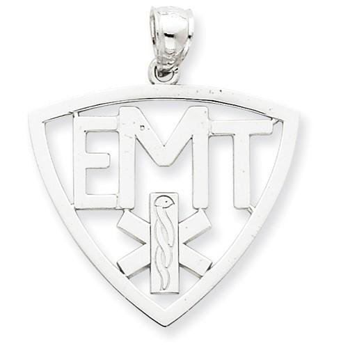 14k White Gold EMT w/ Symbol Pendant