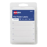 "Avery File Folder Labels, Permanent, 2-3/4"" x 5/8"", 156 Labels"