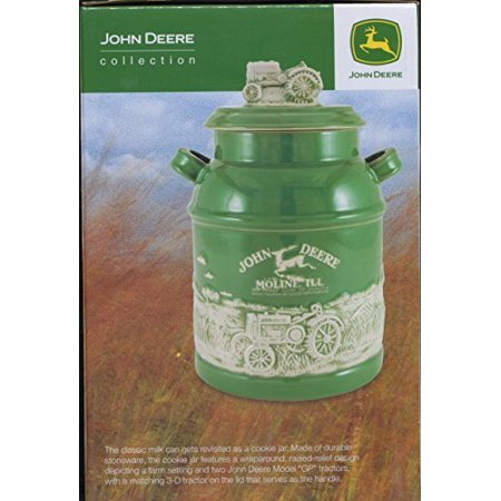 John Deere Milk Can Cookie Jar Biscuit Canister Tractor 8