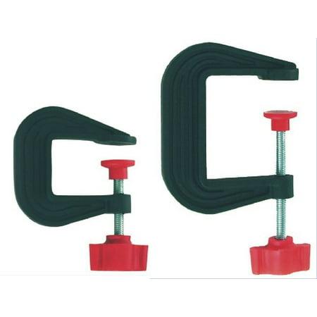 Small & Large Plastic C-Clamp Set