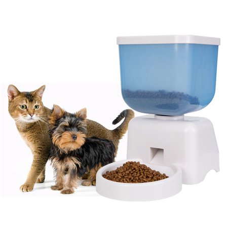 5L Automatic Pet Feeder Auto Pet Dog Food Feeder LCD Screen Voice Record Timer