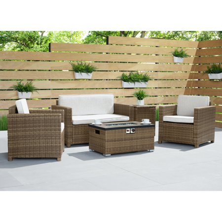 Image of Boulder 4pc Fire Seating Set in Brown by Sego Lily