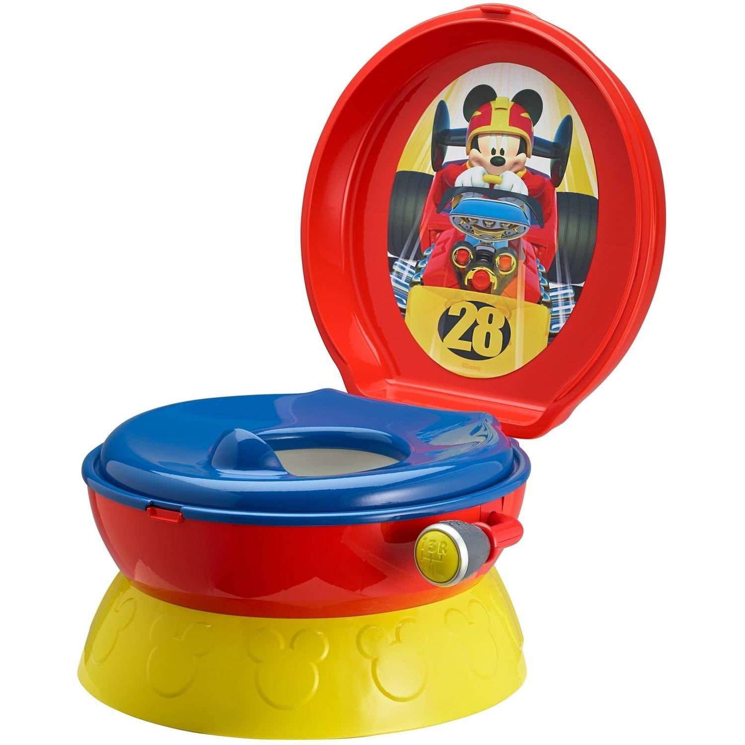 Disney Mickey Mouse 3-in-1 Potty Training Toilet, Toddler Toilet Training Set & Step Stool by The First Years