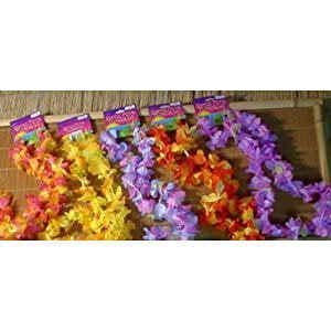 Fun Express 12 Hawaiian Ruffled Simulated Silk Flower Leis Novelty (1 - Hawaiian Novelties