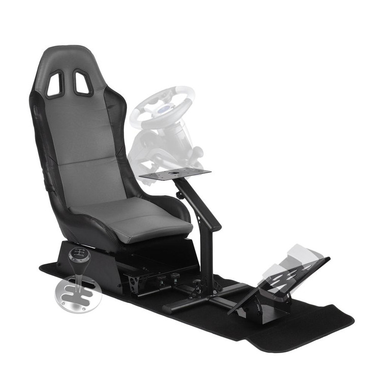 ACEHE Racing Wheel Stand Cockpit Red on Black   for Logitech G29   G920 and Logitech G27   PS4   T300RS   458   T80   Logitech Wheels   Racing Wheel & Controllers NOT Included