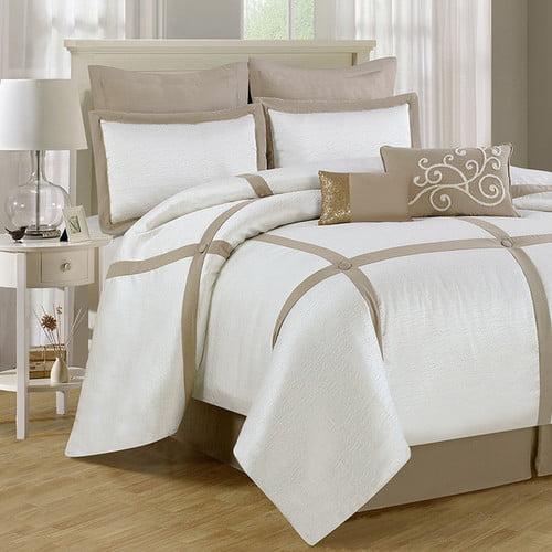 Luxury Home Block 8 Piece Comforter Set