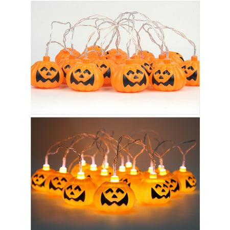 16LED Lamp Pumpkin String LED Light Halloween Bar Festival Party Decoration](Halloween Pumpkin Lamp Post Cover)