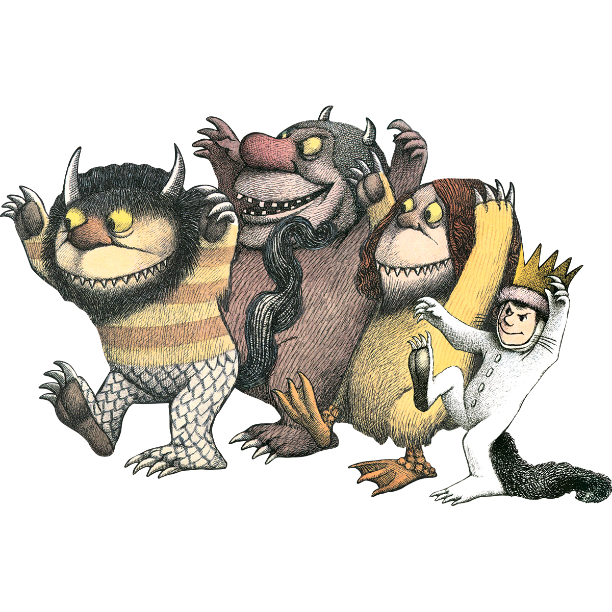 "Floor Puzzle 24 Pieces 36""X23""-Where The Wild Things Are"