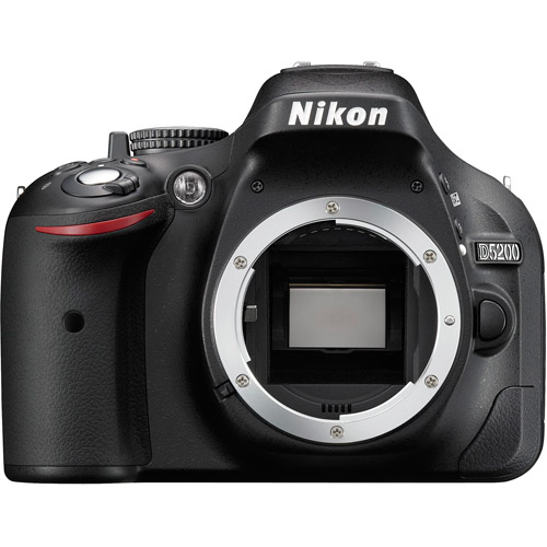 Nikon D5200 DSLR Camera Body (Black)