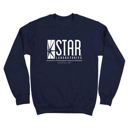 Star Labs S.T.A.R. Laboratories Small Navy Crewneck Sweatshirt - Lamb Hoodie