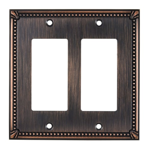 Richelieu BP8611 Double Traditional Rocker Switch Plate from the Decora Collection