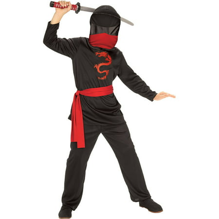 Child Masked Ninja Costume Rubies 881121, - Kids Masks