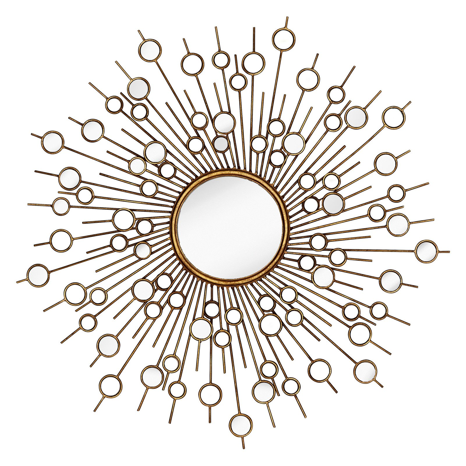 Majestic Glamourous Starburst Circular Decorative Glass Wall Mirror