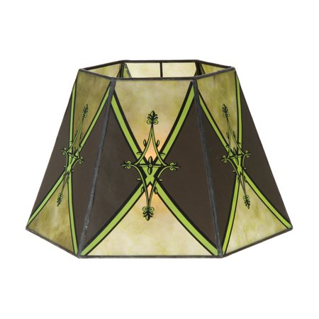 B&P Lamp® Craftsman Green, 7 * 12 * 7.5, Uno, 1In., Decorated Panels, (5)