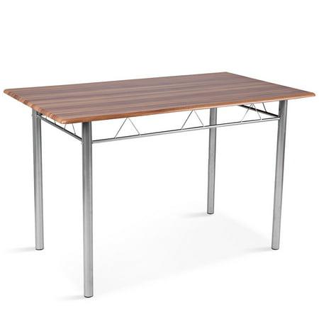 5 Piece Dining Table Set Wood Metal Kitchen Breakfast