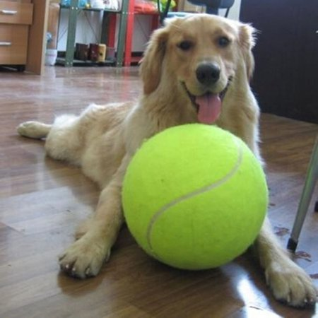 Fdit 9.5  Large Tennis Ball Pet Toy Mega Jumbo Dogs Play Supplies Fun Outdoor Sports Beach Cricket,Pet Toy, Mega Jumbo Dogs Play