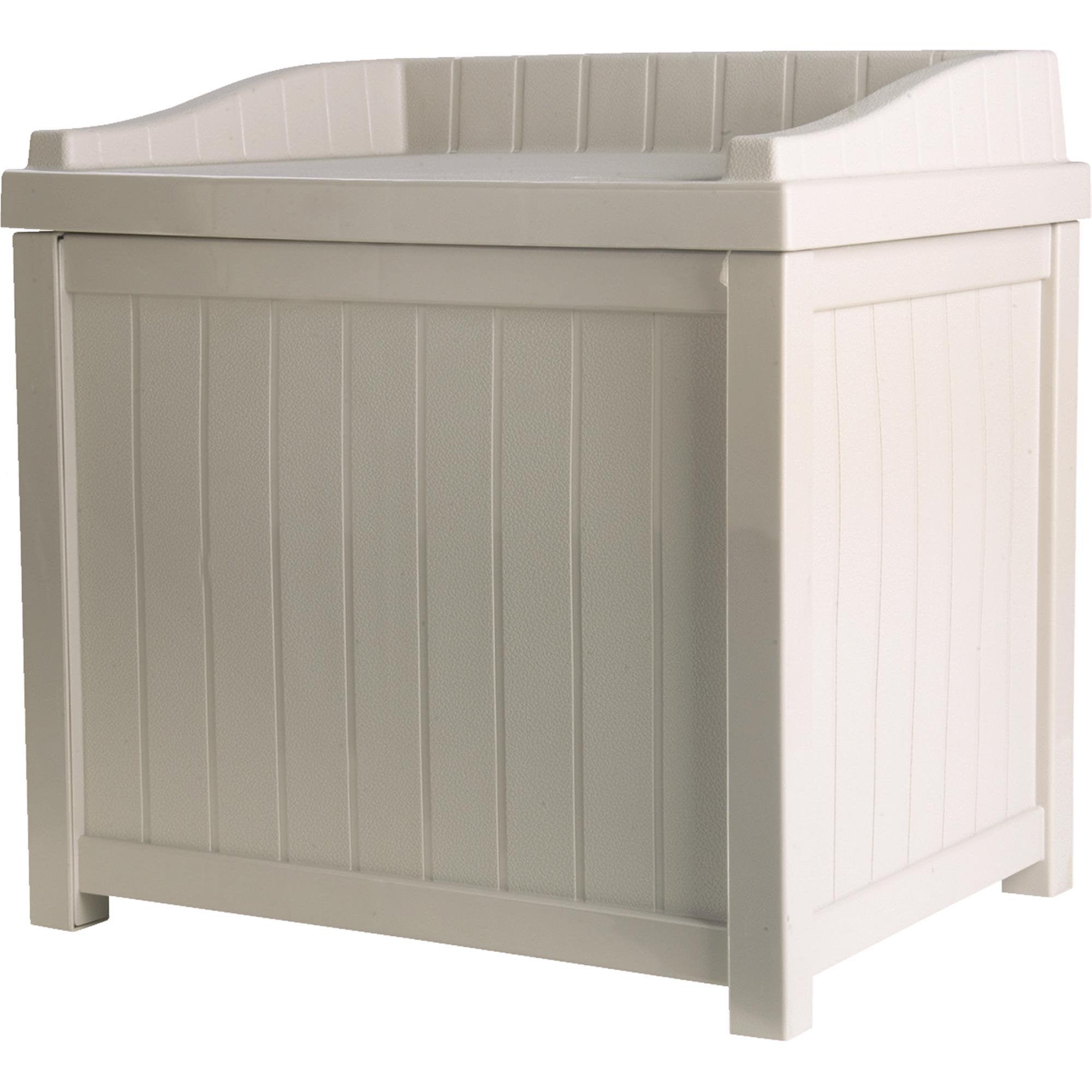 Suncast Resin Wicker Storage Bench