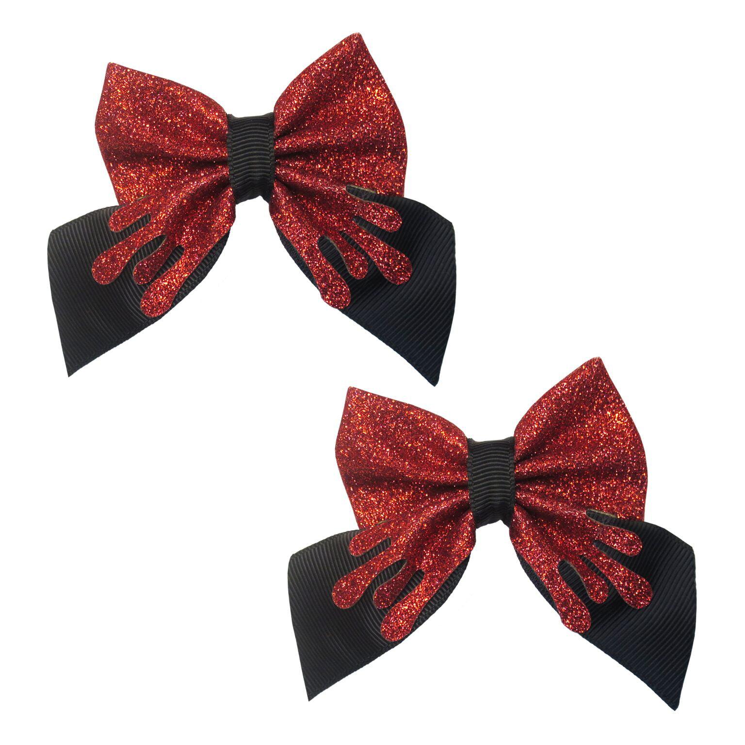 Halloween Dress up Accessories, Blood Drip Hair bows, 2-Pack