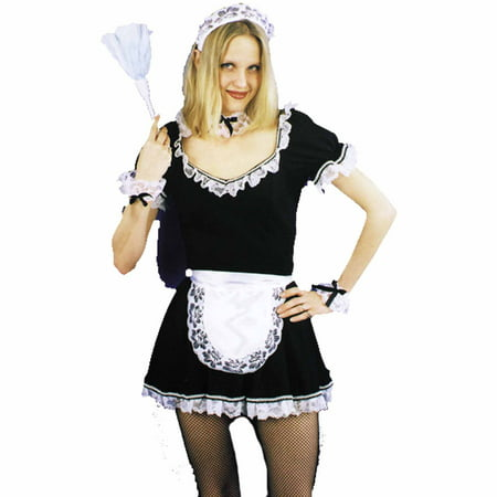 French Maid Set Adult Halloween Accessory](50th France Halloween)
