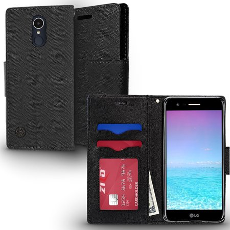 finest selection 95173 7189f LG K20 Plus Case, ZV Wallet Case - Magnetic Flap Pouch w/ Slimfit TPU -  All-In-One Cover w/ Credit Card And ID Holder - Protective Case - LG Harmony