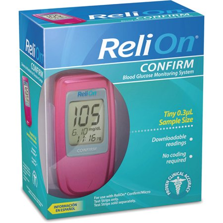 Relion Confirm Blood Glucose Monitoring System Perfect