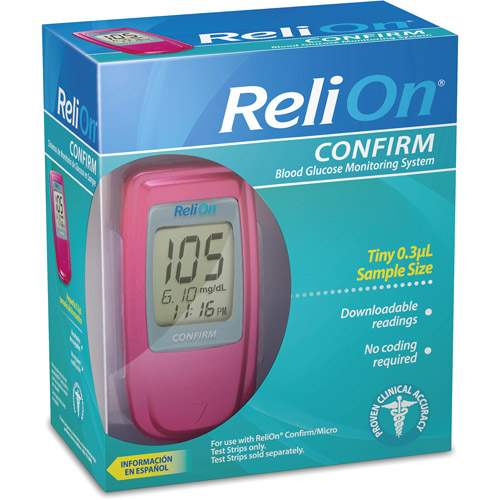 Relion: Confirm Blood Glucose Monitoring System Perfect Pink Kit, 1 kt