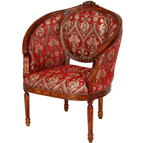 Oriental Furniture Queen Anne Wing Chair
