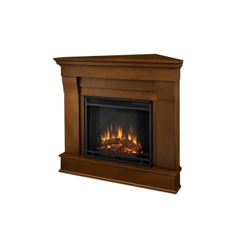 Real Flame 5950E-E 4700-BTU Chateau Corner Electric Fireplace, Espresso