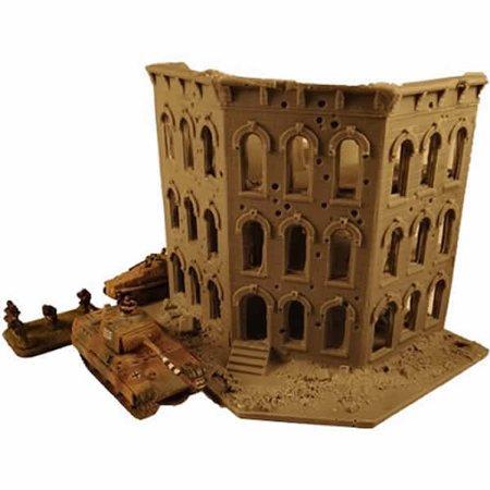 Story City Block Corner Ruins 15Mm Wwii Buildings Miniature Terrain Novus Design Studio