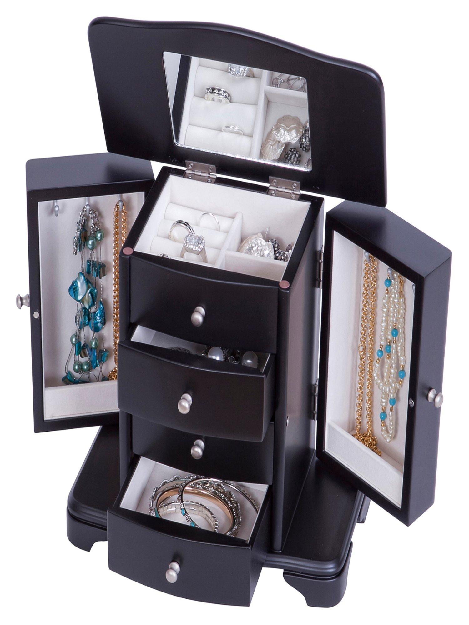 Kennedy Wooden Jewelry Box, Java Finish