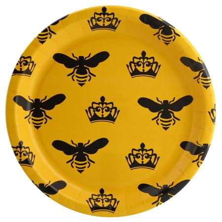 Queen Bee Yellow Dinner Plate (8) - Queen Bee Outfit