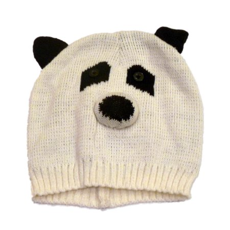 mambo mambo hat womens white knit panda bear beanie. Black Bedroom Furniture Sets. Home Design Ideas
