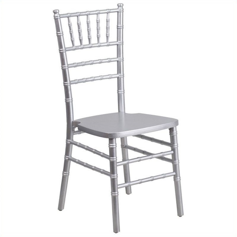 Flash Furniture Elegance Chiavari Dining Chair in Silver