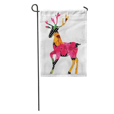SIDONKU Vintage Merry Christmas Pattern Xmas Hipster Winter Idea Party Reindeer Garden Flag Decorative Flag House Banner 12x18 inch ()