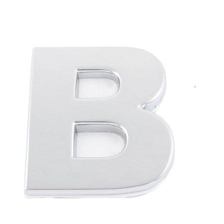 Self Adhesive Stickers Car Auto 3D Emblem Badge Decal Letter Chrome Symbol B