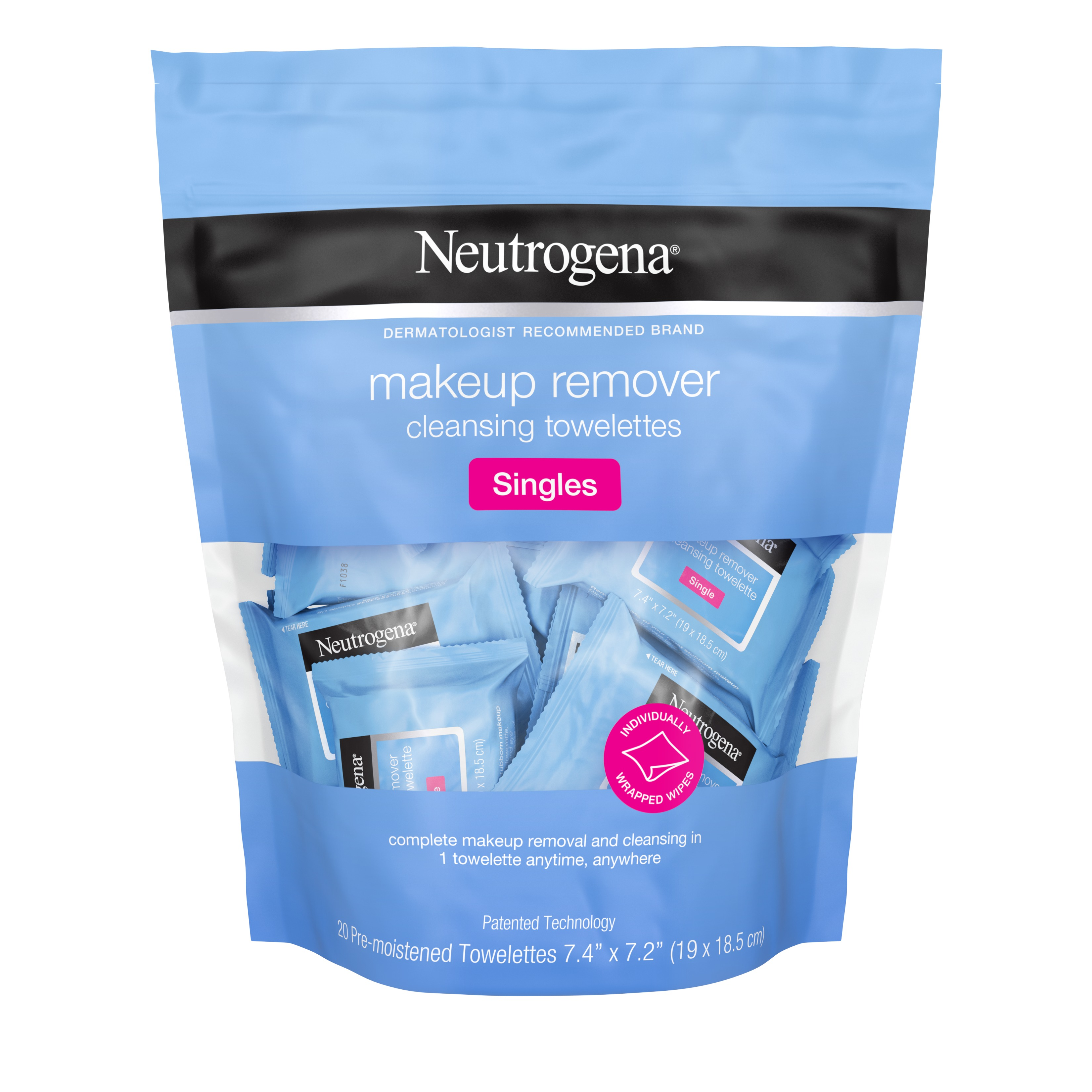 Neutrogena Cleansing Facial Wipes, Individually Wrapped, 20 ct