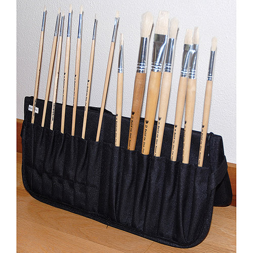 "Just Stow It Easel Back Zipper Brush Case, 15"" x 7"""